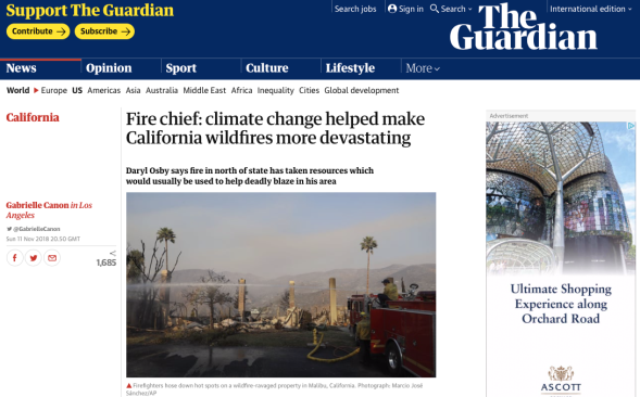 Fire chief - climate change helped make California wildfires more devastating | US news | The Guardian