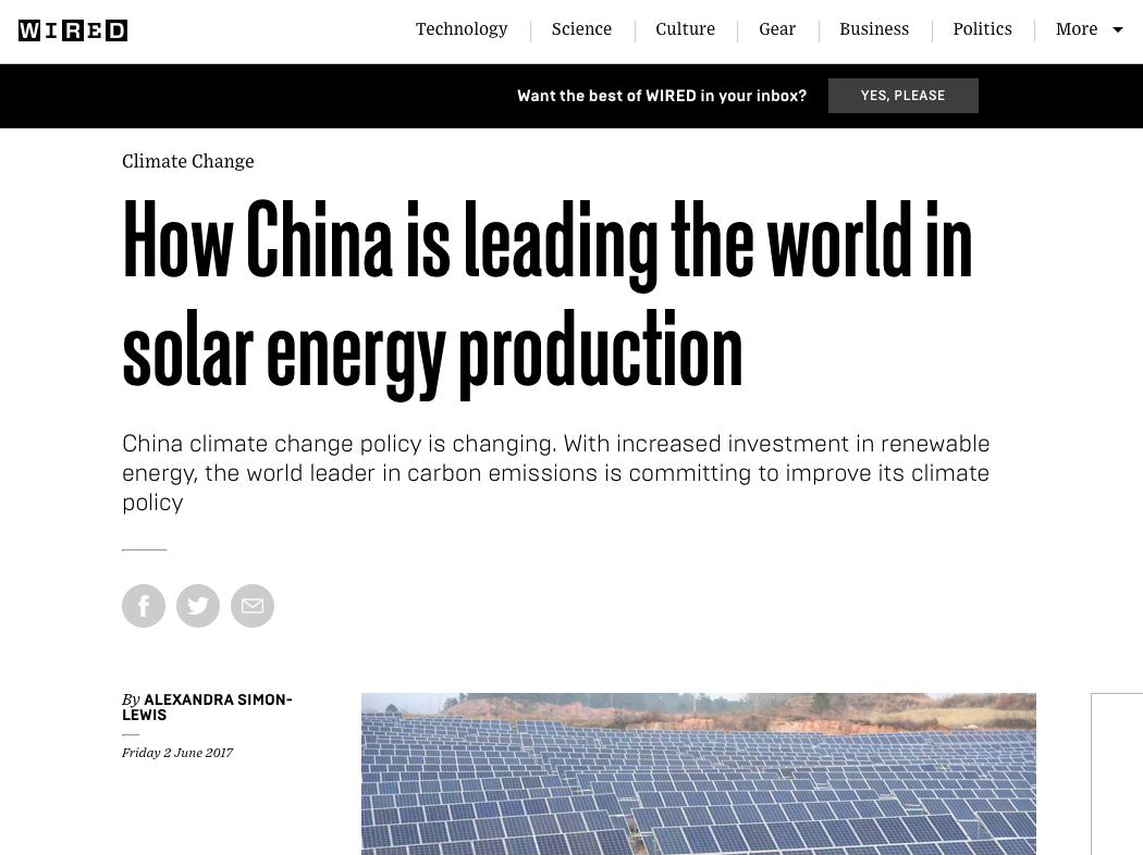 How China is leading the world in solar energy production | WIRED UK