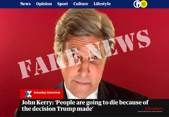 John Kerry - FAKE NEWS - Climatism