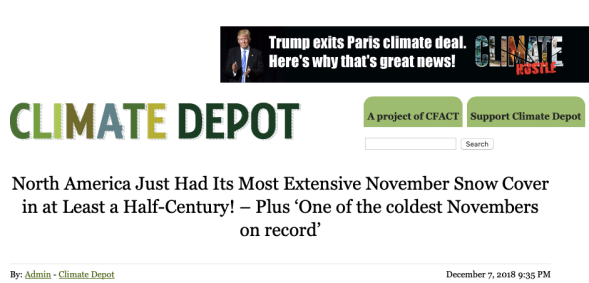 North America Just Had Its Most Extensive November Snow Cover in at Least a Half-Century! – Plus 'One of the coldest Novembers on record_ | Climate Depot