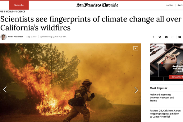 Scientists see fingerprints of climate change all over California_s wildfires - SFChronicle.com