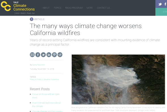 The many ways climate change worsens California wildfires » Yale Climate Connections