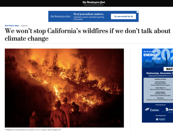 We won_t stop California_s wildfires if we don_t talk about climate change - The Washington Post