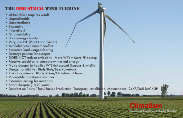 INDUSTRIAL WIND TURBINES - THE FLAWS - CLIMATISM