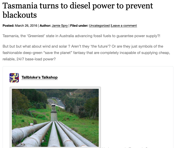 Tasmania turns to diesel power to prevent blackouts | Climatism