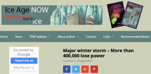 Major winter storm - More than 400,000 lose power - Ice Age Now