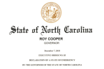 NC EXEC ORDER – STATE OF EMERGENCY – WINTER STORMcopy