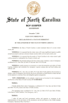 NC EXEC ORDER – STATE OF EMERGENCY – WINTERSTORM