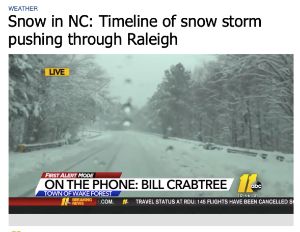 NC snow - Where the winter weather is and what areas it's hitting next | abc11.com