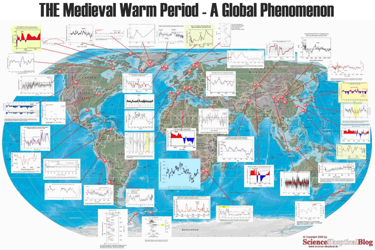PEER-REVIEWED SCIENCE : The Medieval Warm Period Was Indeed Global And Warmer Than Today