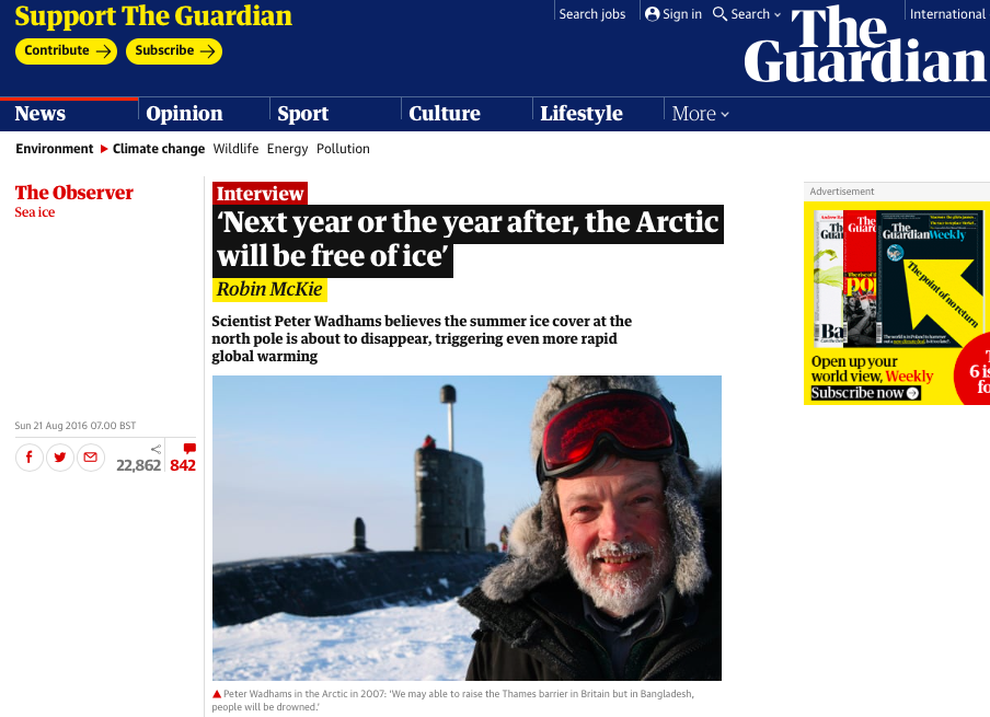 'next year or the year after, the arctic will be free of ice_ | environment | the guardian