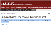 Climate change- The case of the missing heat - Nature News & Comment