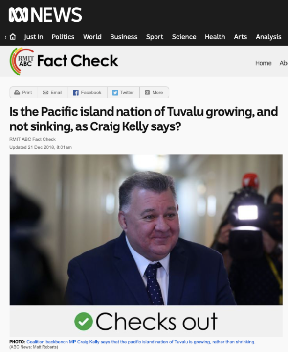 is the pacific island nation of tuvalu growing, and not sinking, as craig kelly says? - fact check - abc news