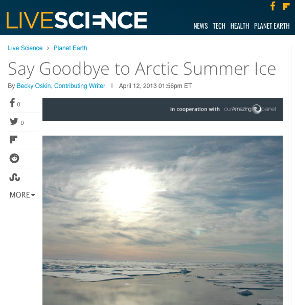 say goodbye to arctic summer ice | live science