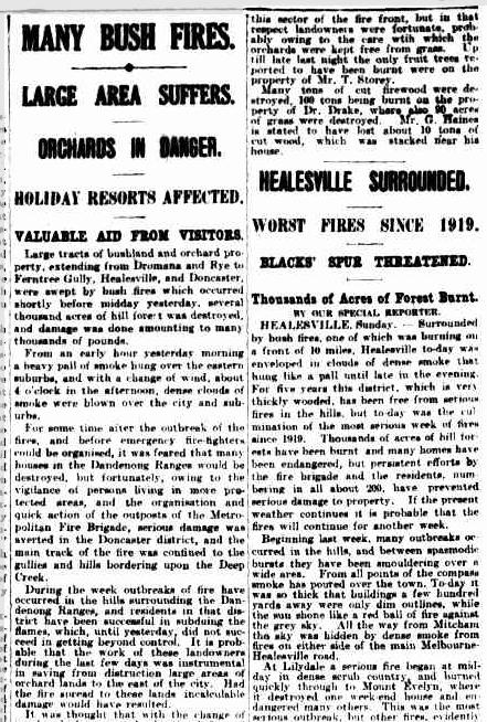 01 Feb 1926 - MANY BUSH FIRES. - Trove.png