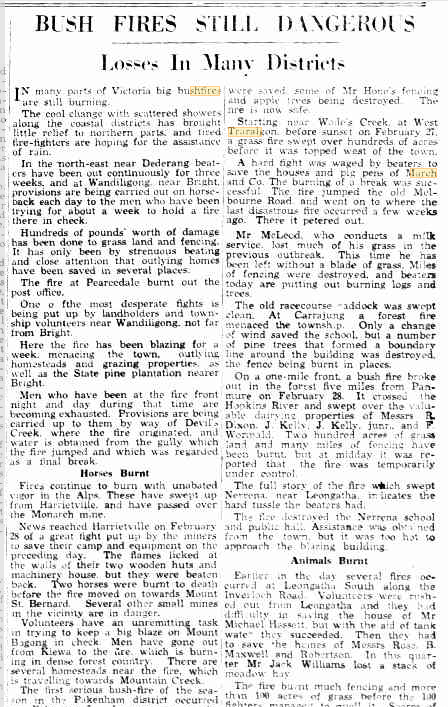 04 Mar 1933 - BUSH FIRES STILL DANGEROUS - Trove.png
