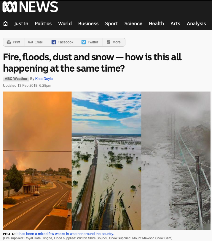 Fire, floods, dust and snow — how is this all happening at the same time? - ABC News