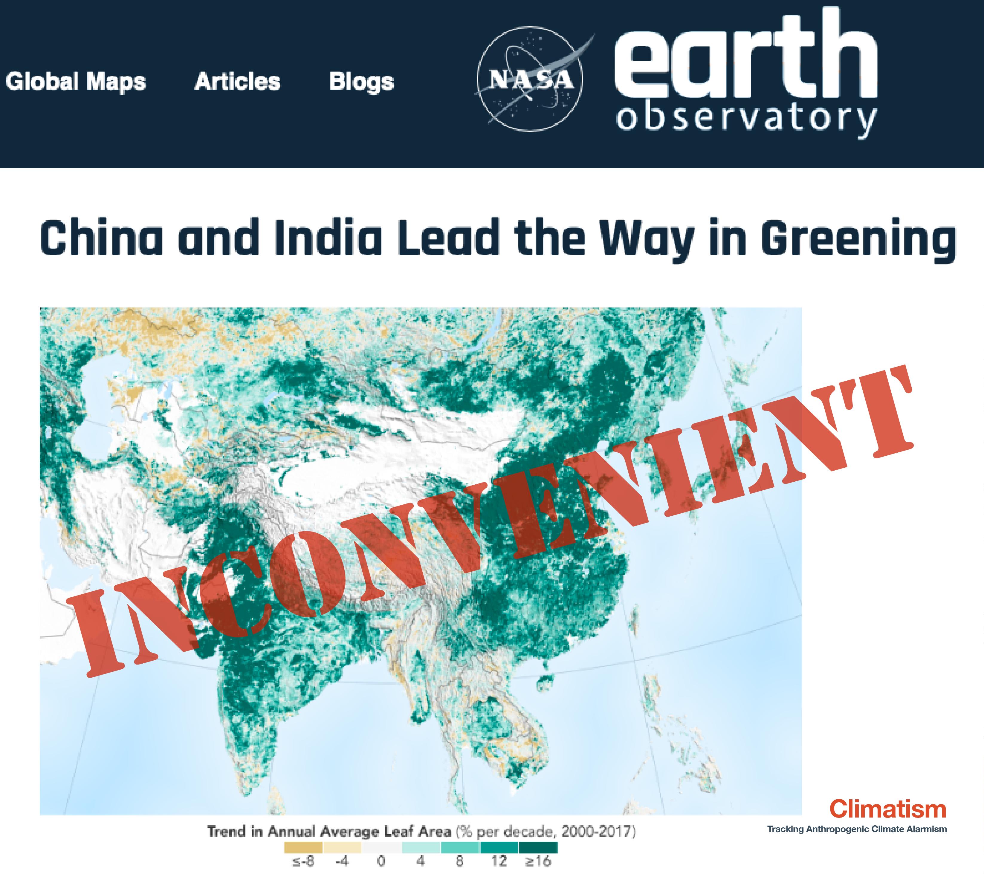 China and India Lead the Way in Greening | NASA - CIMATISM