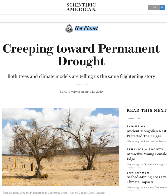 Creeping toward Permanent Drought - Scientific American Blog Network
