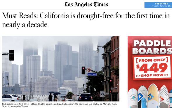 Must Reads - California is drought-free for the first time in nearly a decade - Los Angeles Times.png