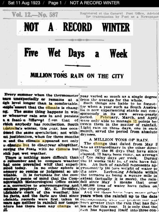 11 Aug 1923 - NOT A RECORD WINTER - Trove