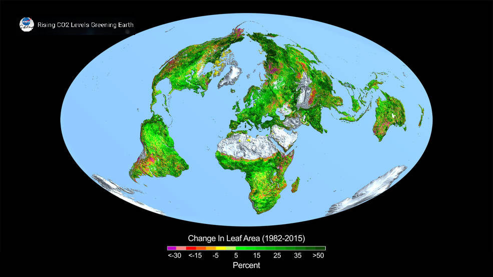 Carbon Dioxide Fertilization Greening Earth, Study Finds | NASA.jpg