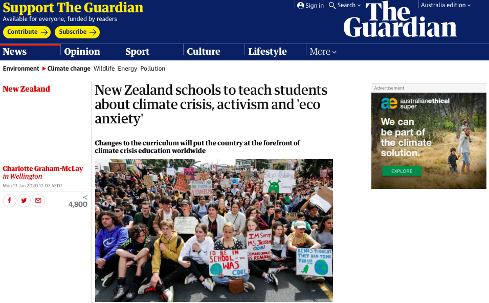 New Zealand schools to teach students about climate crisis, activism and 'eco anxiety' | World news | The Guardian.png