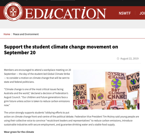 Support the student climate change movement on September 20 - New South Wales Teachers Federation.png