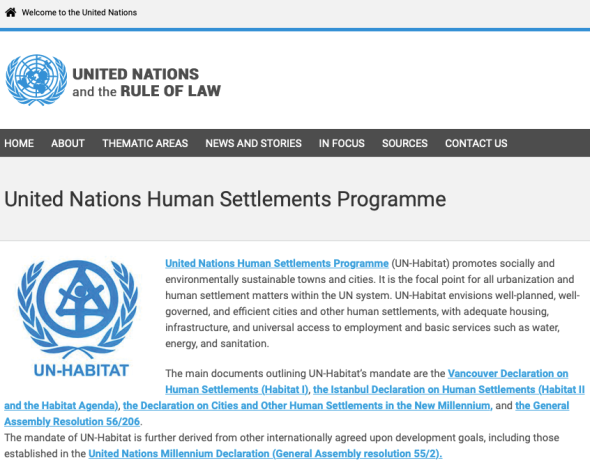 United Nations Human Settlements Programme - United Nations and the Rule of Law | UN