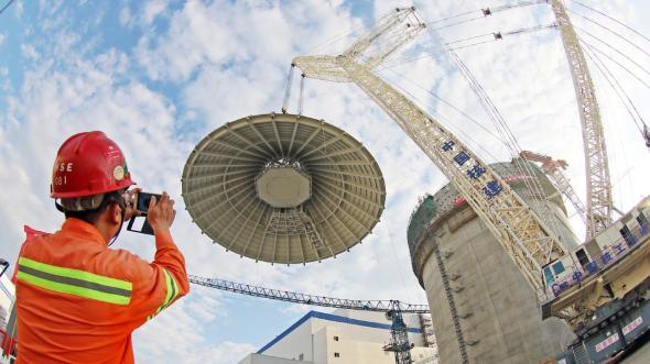 A nuclear power plant under construction in China's Shandong province. Picture AAP
