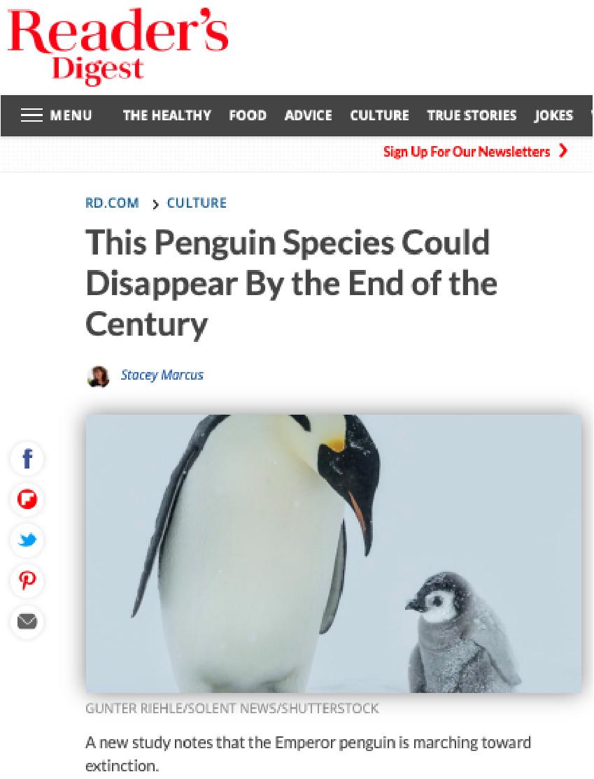 Penguins Climate Change Alarmism CLIMATISM