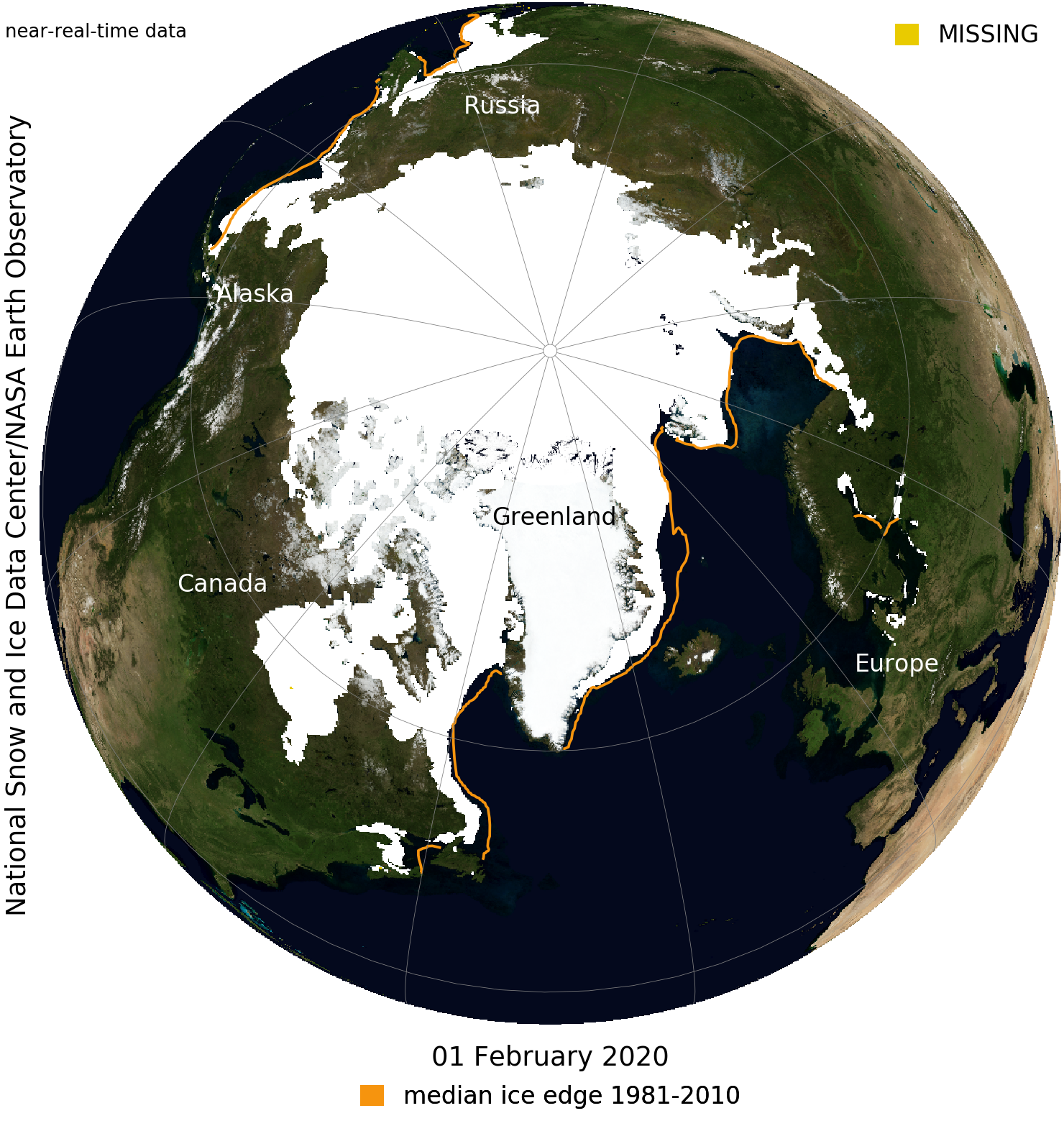 Sea Ice Index | National Snow and Ice Data Center - Blue Marble view
