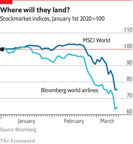Hard landing - Coronavirus is grounding the world's airlines | Business | The Economist